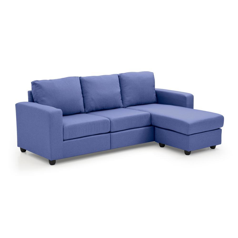 Blue Alexandra Convertible Sectional
