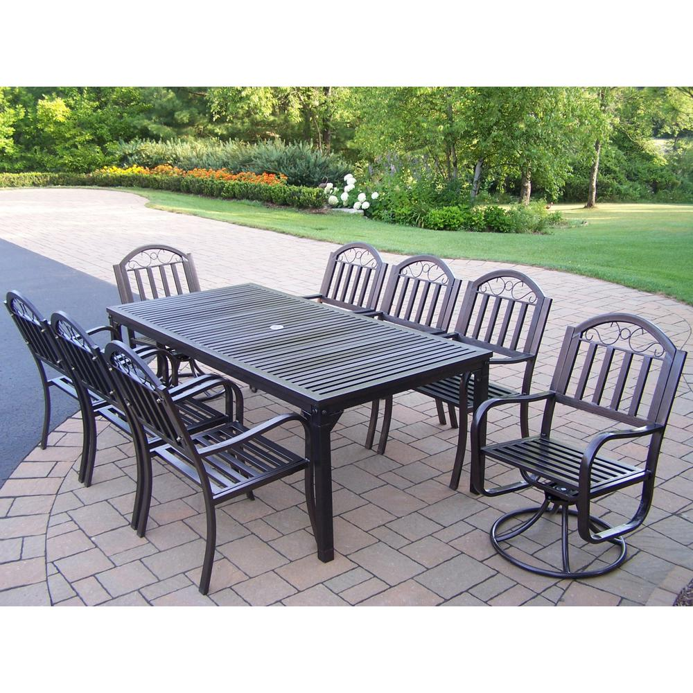 Outdoor Patio Furniture Rochester Ny: Rochester 9-Piece Metal Outdoor Dining Set With