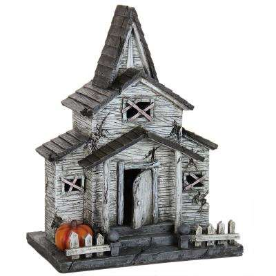 12 in. LED Resin Halloween House - Battery Powered with Timer