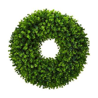 25 in. Indoor Eucalyptus Artificial Wreath