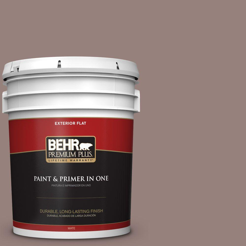 BEHR Premium Plus 5-gal. #N130-5 Mystere Flat Exterior Paint