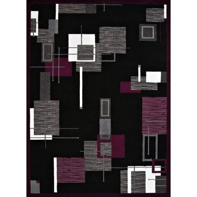 United Weavers Cafe Barista Plum (Purple) 5ft. x 7ft. Area Rug