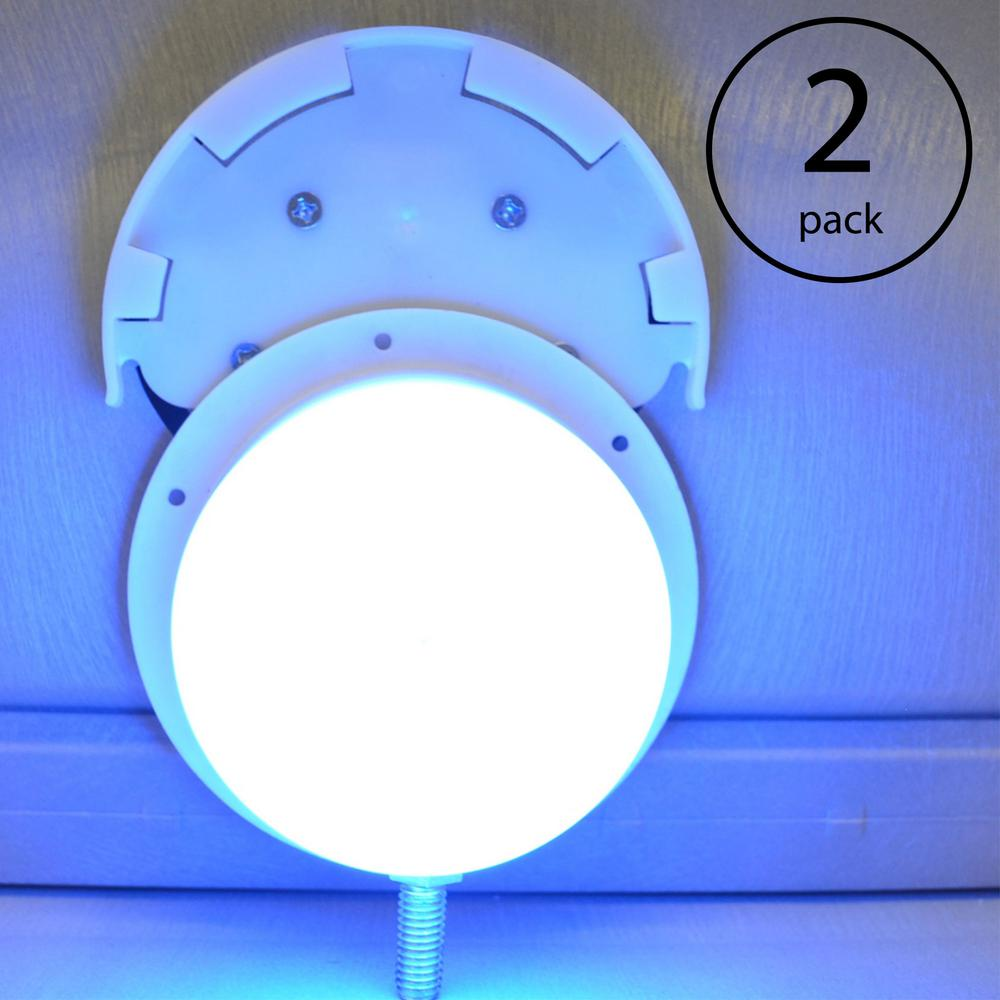 Main Access Swimming Pool LED Floating Ladder Step and Return Line Light  (2-Pack)