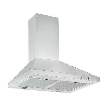 WPP424 24 in. 450 CFM Convertible Wall Mount Pyramid Range Hood with LED in Stainless Steel