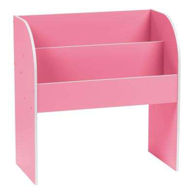 Kid's Pink Wooden Bookshelf