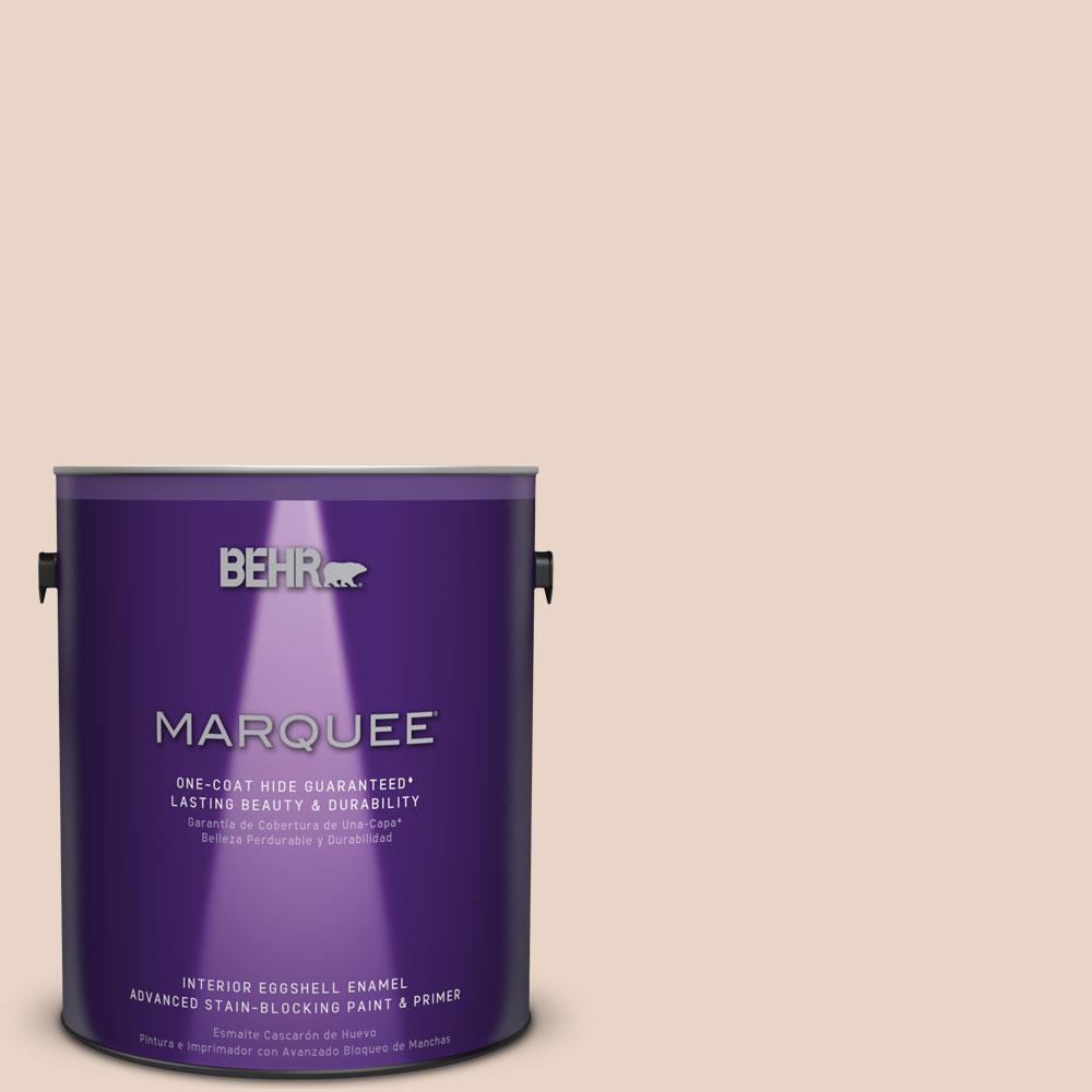 BEHR MARQUEE 1 gal. #MQ3-37 Soft Shoe One-Coat Hide Eggshell Enamel Interior Paint
