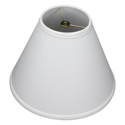 12 in. Width x 8.25 in. Height White/Brass Hardware Coolie Lamp Shade