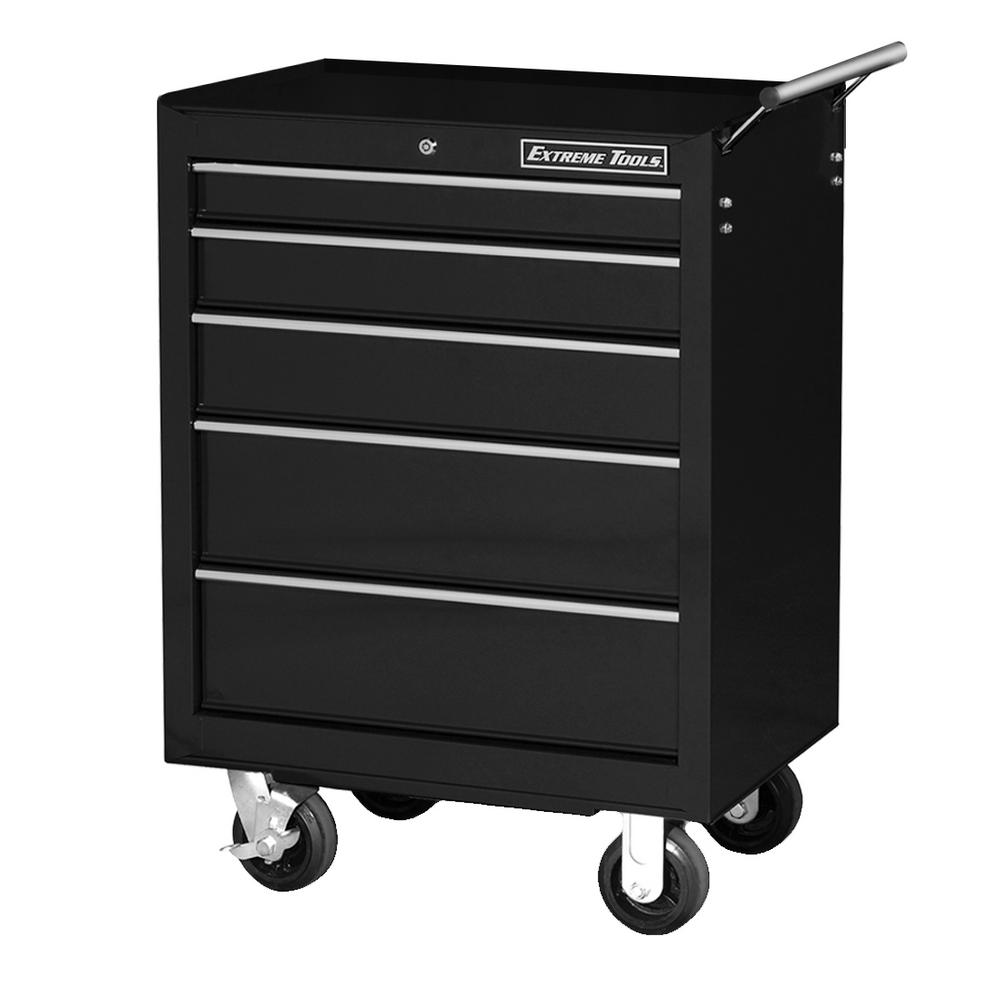 26 in. 5-Drawer Standard Roller Cabinet Tool Chest in Black
