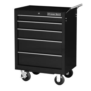 Click here to buy Extreme Tools 26 inch 5-Drawer Standard Roller Cabinet Tool Chest in Black by Extreme Tools.