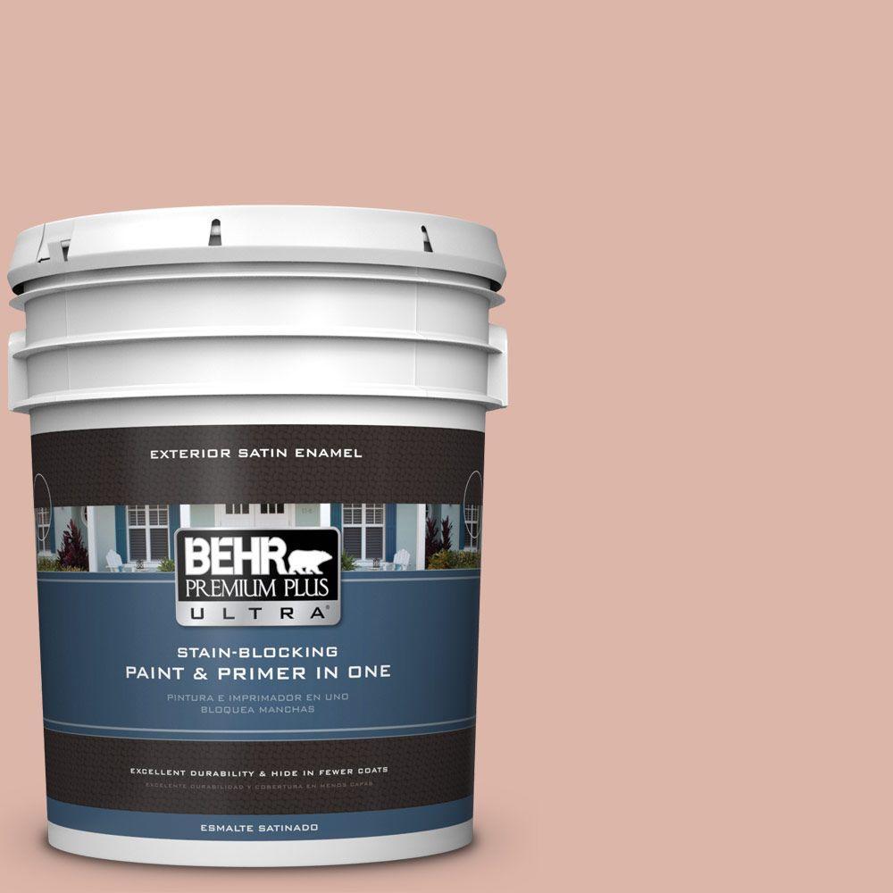 BEHR Premium Plus Ultra 5-gal. #220E-3 Melted Ice Cream Satin Enamel Exterior Paint