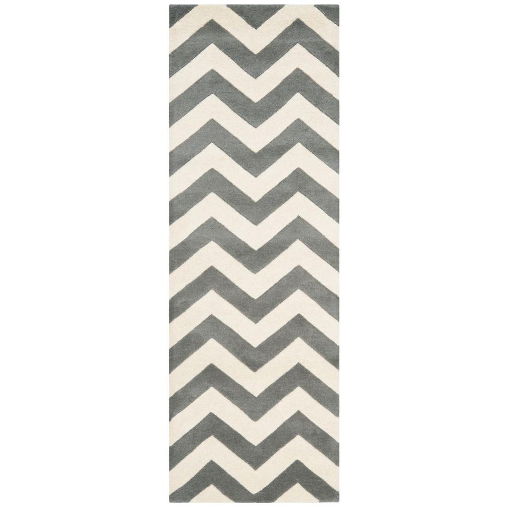 Chatham Dark Grey/Ivory 2 ft. 3 in. x 9 ft. Runner