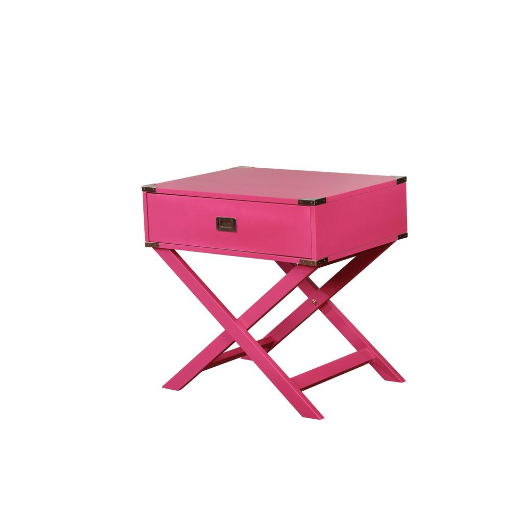 Sara X-Base Pink Accent Table