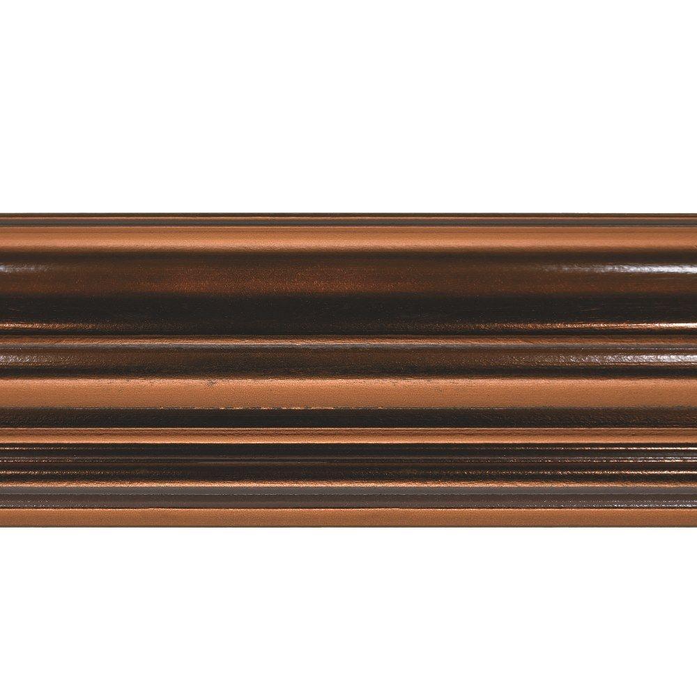 Classic 0.75 in. x 6.125 in. x 96 in. Poplar Crown Moulding in Oil Rubbed Bronze