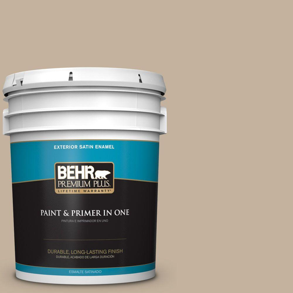5-gal. #BNC-03 Essential Brown Satin Enamel Exterior Paint