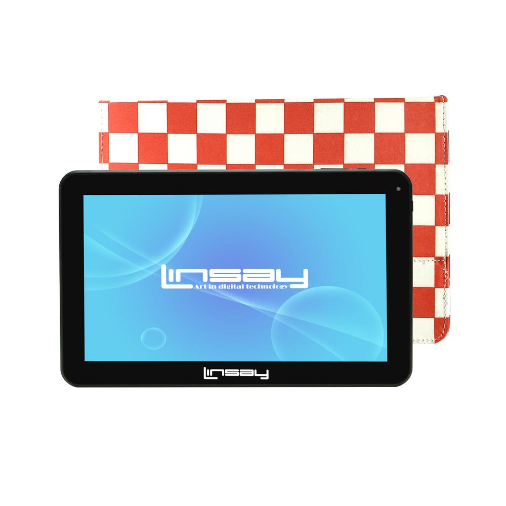 LINSAY 10.1 in. 2GB RAM 16GB Android 9.0 Pie Quad Core Tablet with Red Square Case was $174.99 now $84.99 (51.0% off)