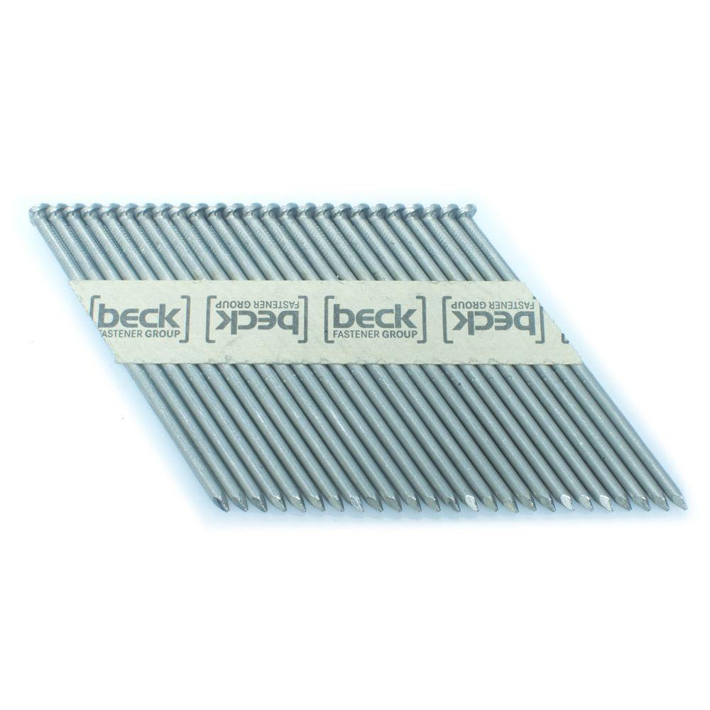 FASCO 3.25 in. x 0.121 in. 33-Degree Smooth Stainless Paper Tape Clipped Head Nail 1M