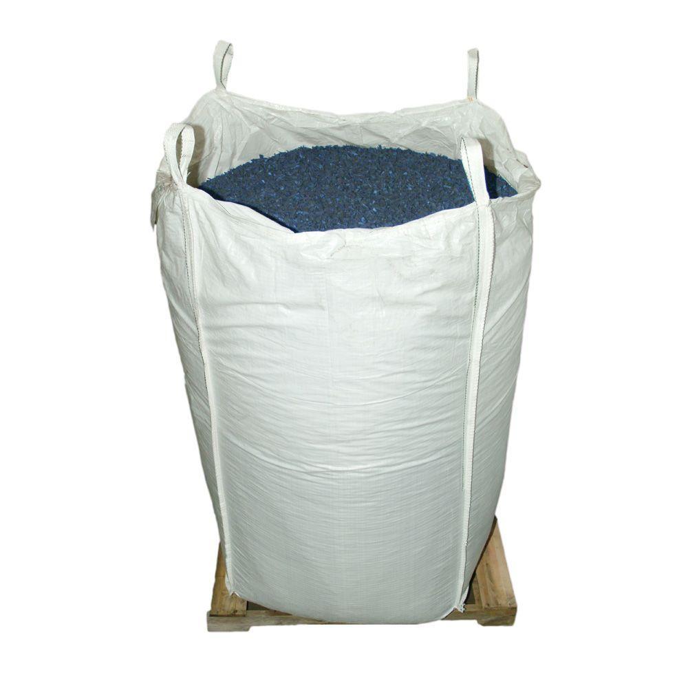 76.9 cu. ft. Blue Rubber Mulch