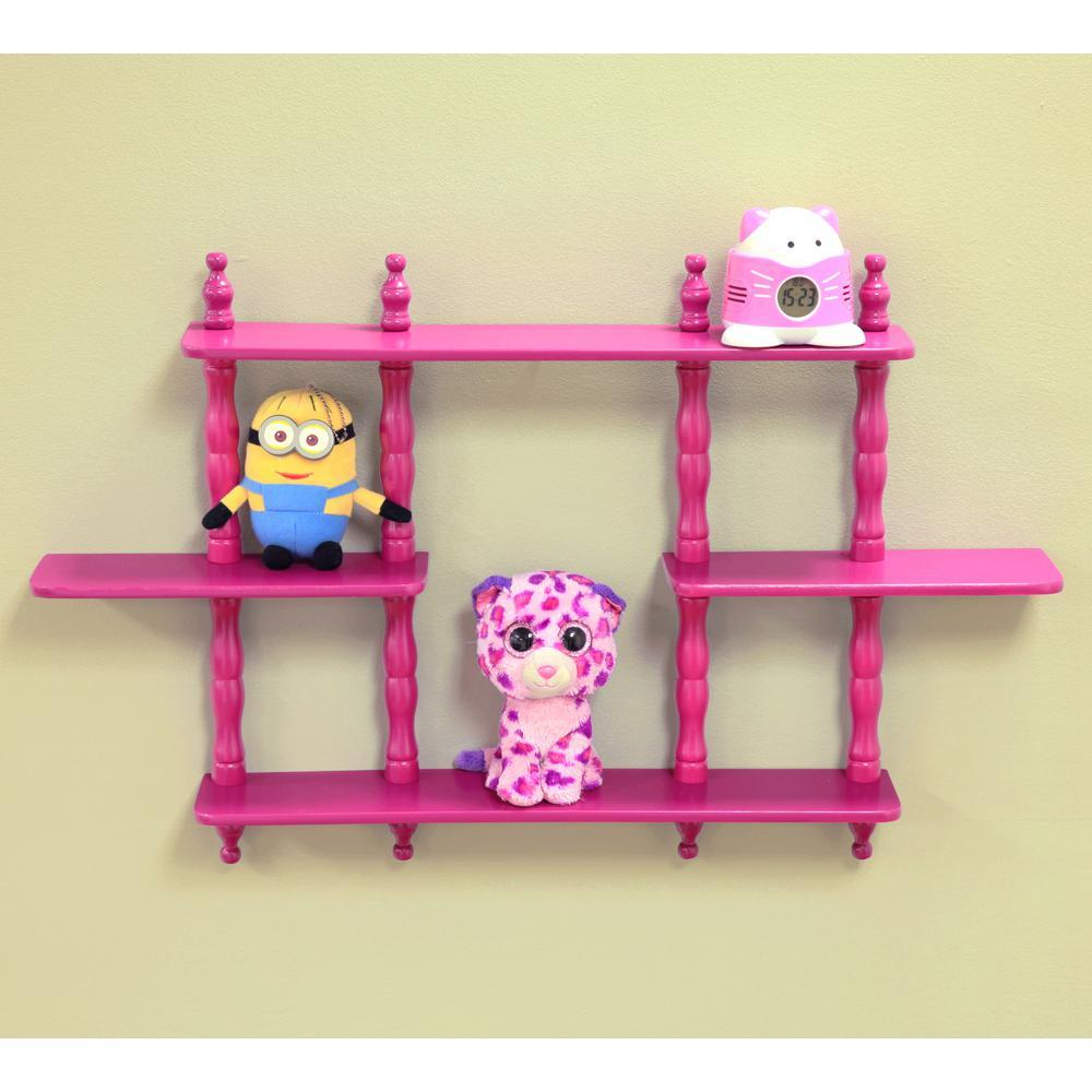 Wall Mounted Decorative Shelf in Purple