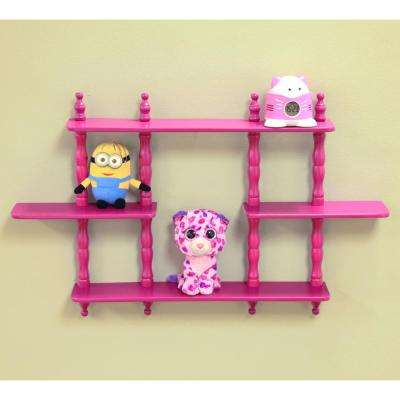 Wall Mounted Decorative Shelf in Purple