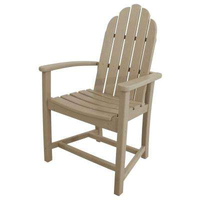 Classic Sand Adirondack All-Weather Plastic Outdoor Dining Chair