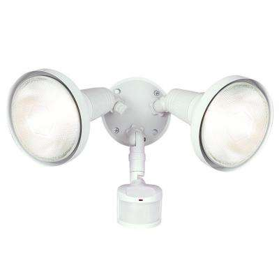 180-Degree White Motion Activated Sensor Outdoor Security Flood Light with Lamp Cover