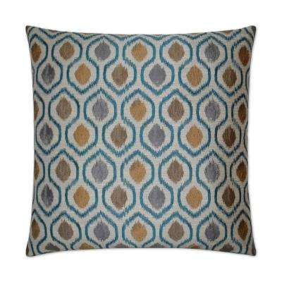 Brandon Turquoise Feather Down 24 in. x 24 in. Decorative Throw Pillow