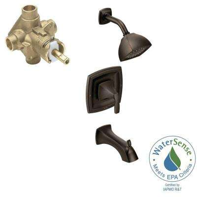 Voss Single-Handle 1-Spray PosiTemp Tub and Shower Faucet Trim Kit with Valve in Oil Rubbed Bronze (Valve Included)
