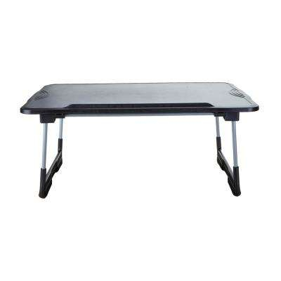 Plastic Adjustable And Foldable Laptop Table, Black