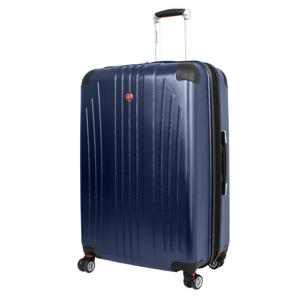 28 in. Navy Hardside Spinner Suitcase