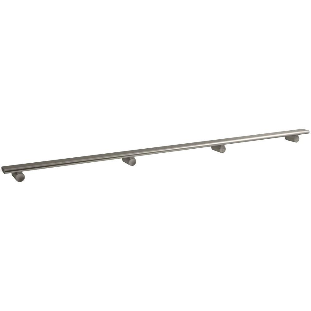 KOHLER Choreograph 54 in. Shower Barre in Anodized Brushed Nickel