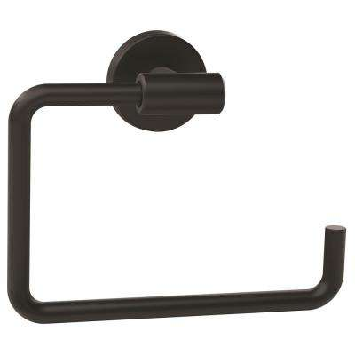 Arrondi 6-7/16 in. L Towel Ring in Matte Black