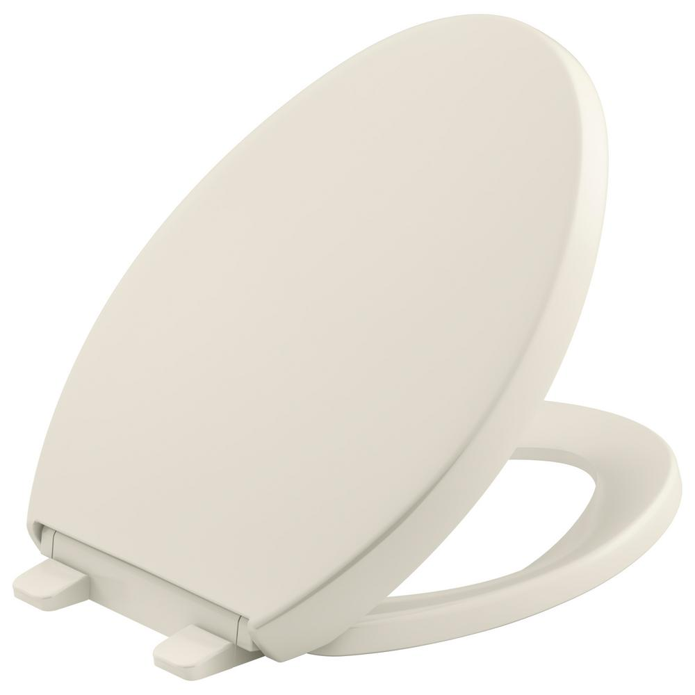 Reveal Quiet-Close Elongated Closed Front Toilet Seat with Grip-Tight Bumpers in