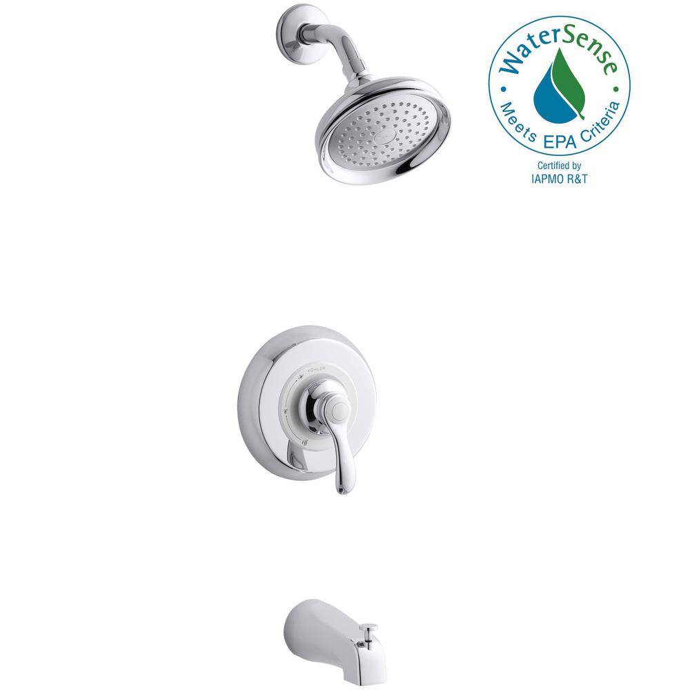 Fairfax 1-Handle 1-Spray Tub and Shower Faucet with Lever and Slip-Fit