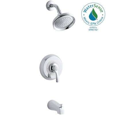 Fairfax 1-Handle 1-Spray  Tub and Shower Faucet with Lever and Slip-Fit Spout in Polished Chrome (Valve Not Included)