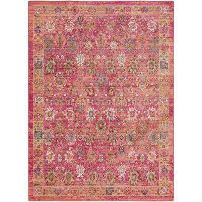 Germili Bright Pink 9 ft. x 12 ft. Indoor Area Rug