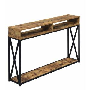Tucson 48 in. Barnwood Melamine Standard Rectangle Console Table with 2-Shelves
