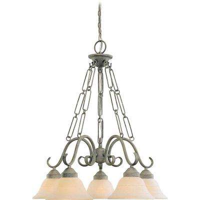Lenor 5-Light Platinum Rust Incandescent Ceiling Chandelier