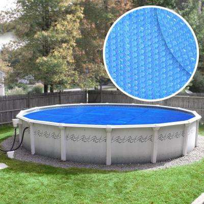 Deluxe 3-Year 24 ft. Round Blue Solar Cover Pool Blanket