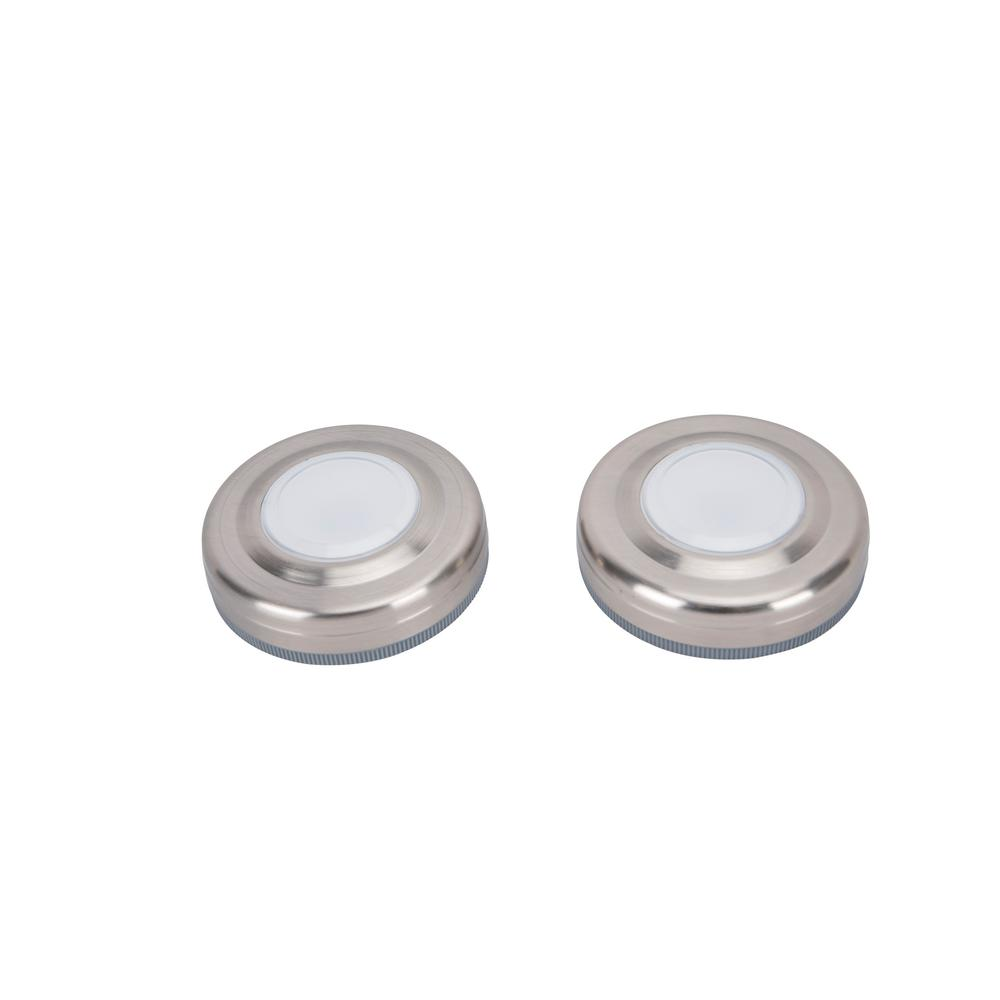 3.5 in. LED Silver Puck Light (2-Pack)