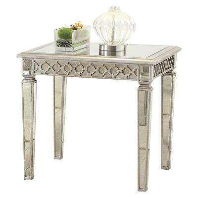 Kacela Mirror and Champagne End Table