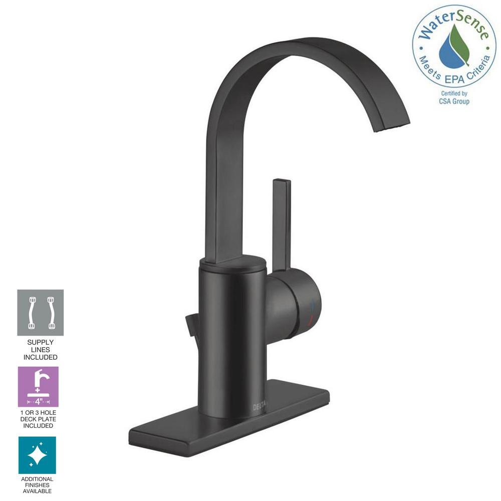 Delta Mandolin 4 In Centerset Single Handle Bathroom Faucet In