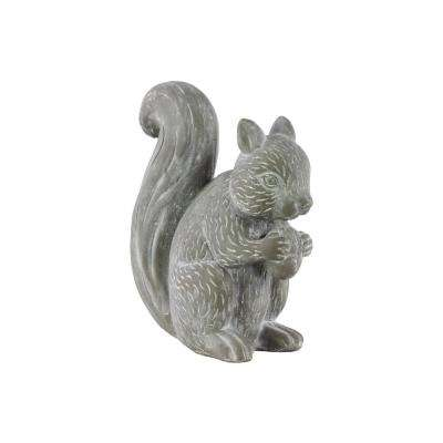 10.50 in. H Figurine Decorative Sculpture in Gray Washed Concrete