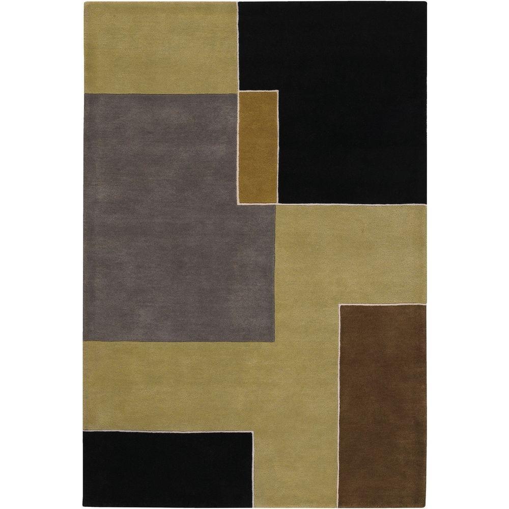 Chandra Bense Green Black Brown Gray 8 Ft X 11 Indoor Area Rug
