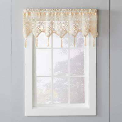 Fleetwood 49 in. W x 14 in. L Cotton Window Valance in Natural