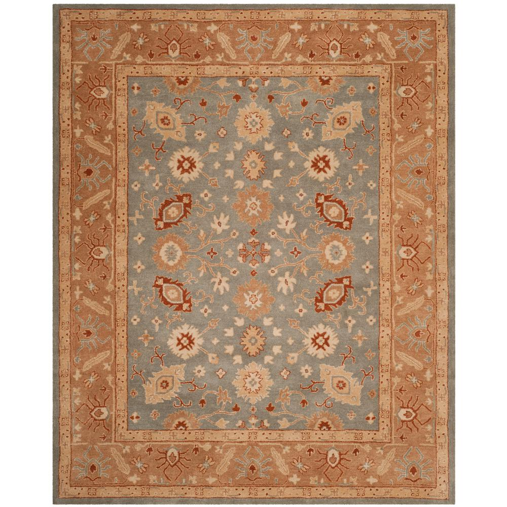 Antiquity Blue/Beige 8 ft. x 10 ft. Area Rug