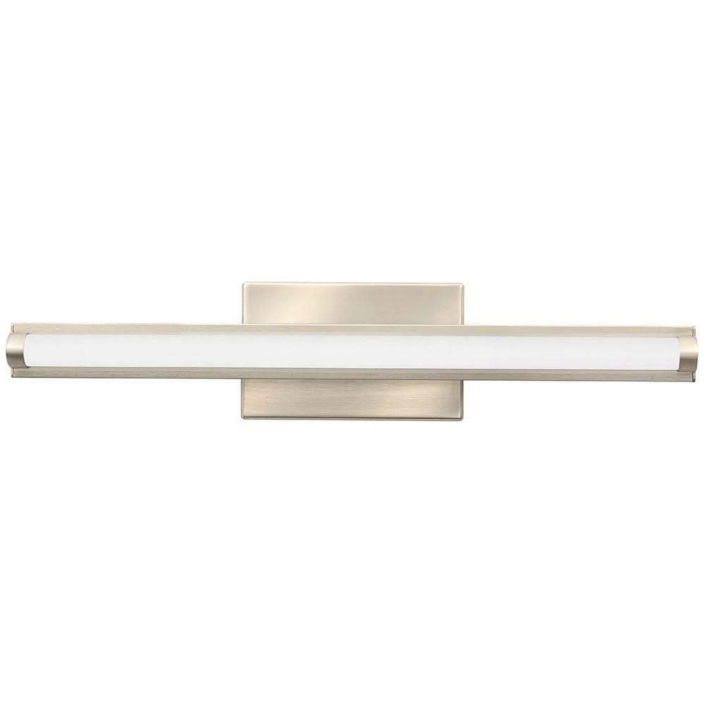 Lithonia Lighting Contemporary Arrow 2-Light Brushed Nickel 3K LED Vanity Light-FMVCAL 24IN ...