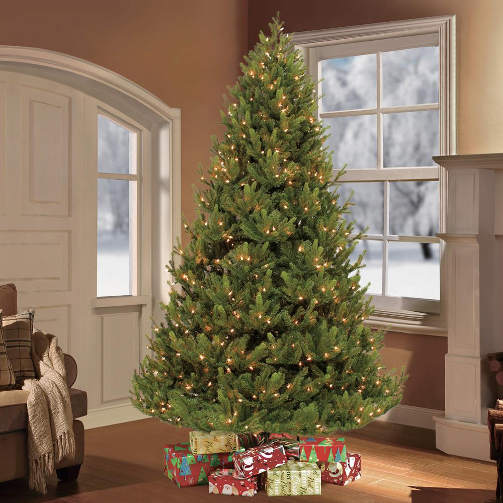 Puleo International 7 5 Ft Pre Lit Hillside Balsam Special Select Artificial Christmas Tree With 800 Clear Lights