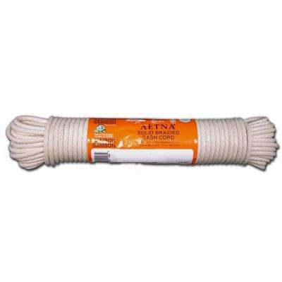 #6 - 3/16 in. x 1000 ft.  Solid Braid Cotton Sash Cord Unglazed