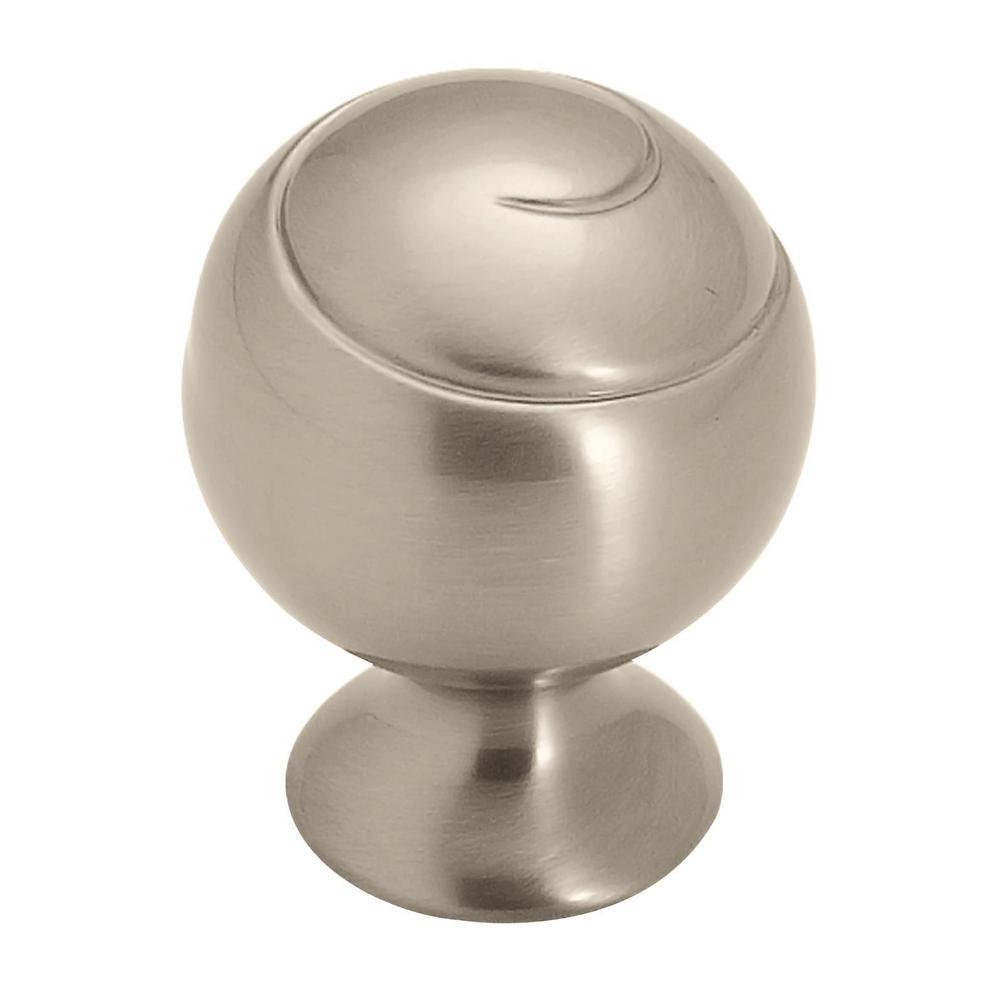 Swirl'Z 1-1/8 in (29 mm) Diameter Satin Nickel Cabinet Knob