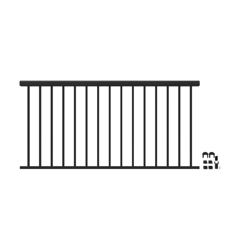 Penrose 6 ft. x 36 in. Matte Black Aluminum Decorateve Rail Level Kit